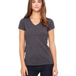 Ladies'  4.2 oz. Short-Sleeve V-Neck T-Shirt