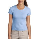 Ladies Fine Gauge Short Sleeve Scoop Neck Sweater