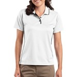Ladies Dri Mesh® Polo with Tipped Collar and Piping
