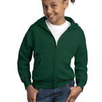Youth ComfortBlend® EcoSmart® Full Zip Hooded Sweatshirt