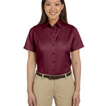 Ladies'  Short-Sleeve Twill Shirt with Stain-Release